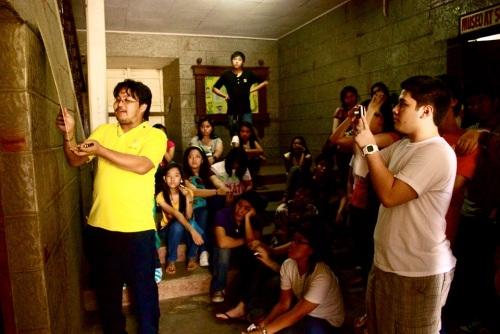 Ang paglalagay ng marker ng mga Lasalyano sa bartolina sa Naic, Nobyembre 2010.