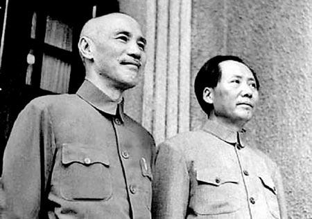 Si Jiang Jieshi (Chiang Kai-Shek) at Mao Zedong nang mag-alyansa laban sa mga mananakop na Hapones sa Tsina.  Matapos ang Ikalawang Digmaang Pandaigdig, laban ulit sila.  Ang epekto ng away nila hanggang ngayon nadarama natin sa Timog Silangang Asya.