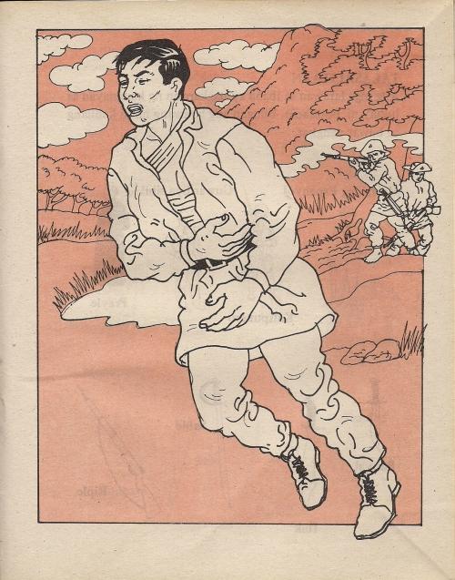 Pagtakbo ng Supremo at pagtugis sa kanya na parang manok.  Mula sa bersyon ni Lazaro Makapagal.  Pagsasalarawan ng Adarna.