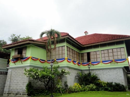 Ang muling itinayong bahay ni Rizal sa Calamba, Laguna.