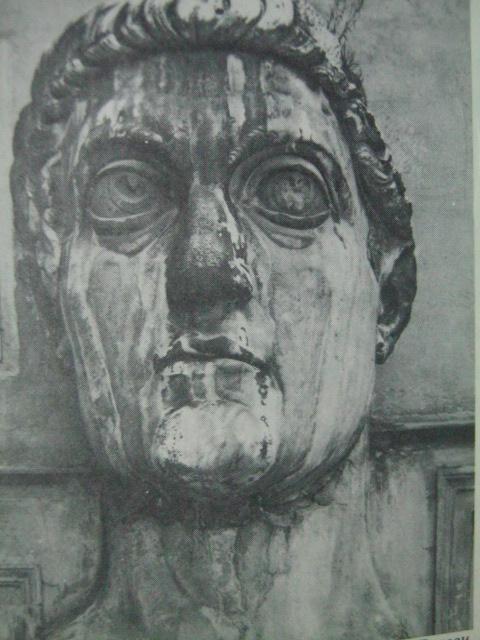 Ang bustong higante ni Emperador Konstantino.  Mula sa Long Ago in the Old World.