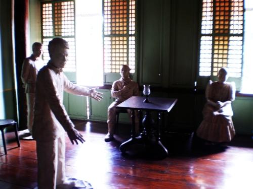 Diorama ukol sa paglilitis kay Andres Bonifacio sa Bahay Pinaglitisan sa Maragondon, Cavite.  Mula sa Sinupan ng Aklatang Xiao Chua.