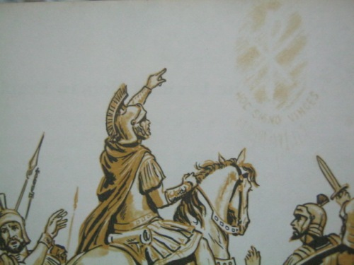 Ang bisyon ni Emeperador Konstantino.  Mula sa Long Ao in the Old World.
