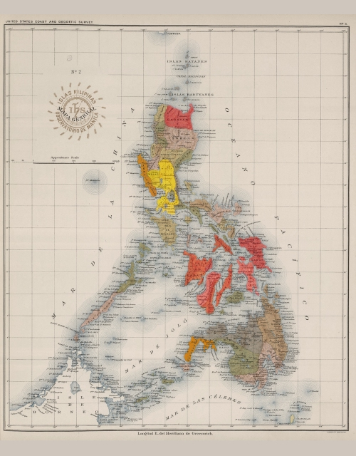 Ang Mapa ng Pilipinas noong Panahon ng Himagsikan.  Mula sa gov.ph.