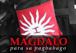 """Kahunghangan na tinawag itong """"Magdalo"""" ng press dahil pinaghalo nito ang araw sa War Standard ni Bonifacio sa baybaying """"K"""" sa bandilang ibinaba sa Biak-na-bato."""