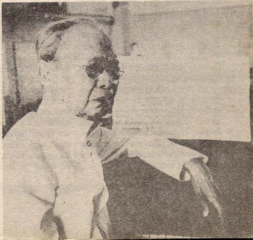Matandang Julio Nakpil.  Mula kay Dr. Ambeth Ocampo.