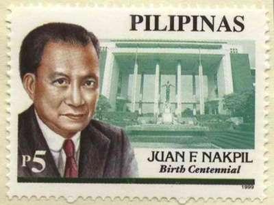 Arkitekto Juan Nakpil sa selyo noong sentenaryo ng kanyang kapanganakan, 1999.