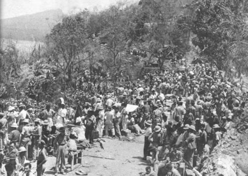 Pagsuko ng Corregidor.  Mula sa corregidor.org.