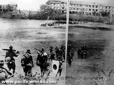 Ang mga Hapones sa may topside ng Corregidor.