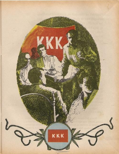 Ang bandila ng KKK.  Iginuhit ni Jose Prado para sa Adarna.