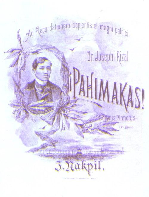 Pabalat ng Pahimakas.  Mula sa julionakpil.blogspot.com.