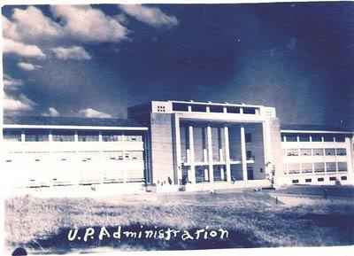 Ang Adminsitration Building ng Unibersidad ng Pilipinas--Quezon Hall.