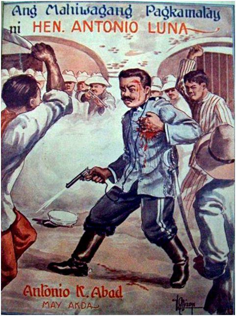 """Ang pabalat ng pananaliksik  ni Antonio Abad, """"Ang Mahiwagang Pagkamatay ni Hen. Antonio Luna.""""  Mula kay Dr. Vic Torres."""