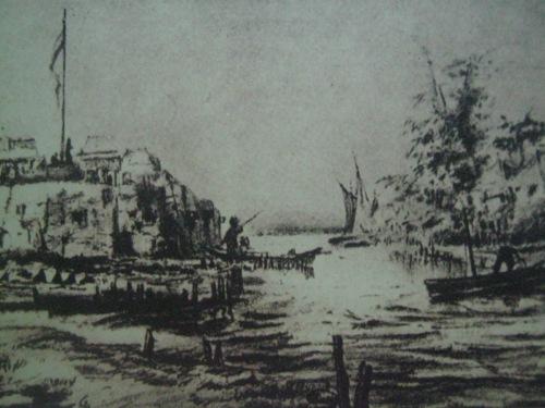 Ang kuta ni Soliman sa Maynila ayon kay J. Martinez, 1892.  Mula sa Pacto de Sangre.