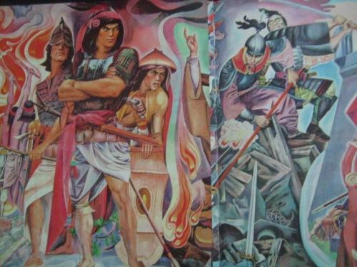 """Si Rajah Soliman at si Limahong sa mural ni Botong Francisco """"History of Manila."""""""