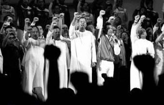 Ang mga Christian Brothers, o mas kilala bilang mga La Salle brothers sa Pilipinas.