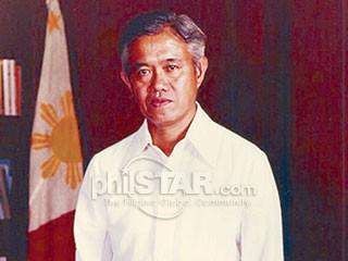 Finance Minister at Prime Minister Cesar Emilio Aguinaldo Virata.  Mula sa The Philippine Star.