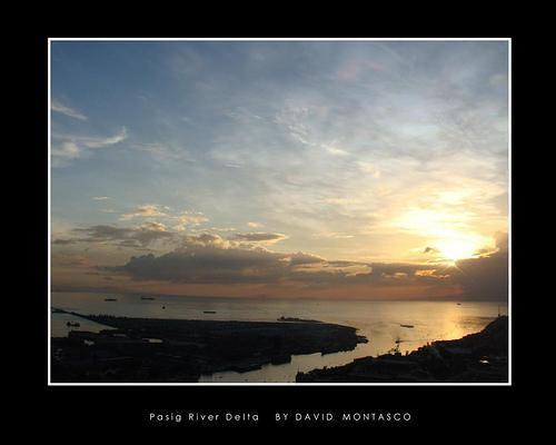 Ang alog ng Look ng Maynila at Ilog Pasig ngayon.  Kuha ni David Montasco.