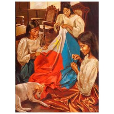"""""""Alab ng Puso"""" ni Juanito Torres.  Mula sa Gallery Joaquin."""