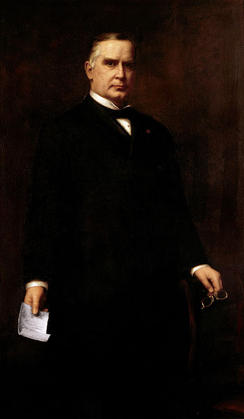Pangulong William McKinley ng Estados Unidos.  Ang opisyal na White House Protrait.