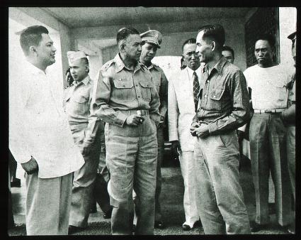 Paghuli kay Ka Luis Taruc ni Major General Vargas.  Mula sa quod.lib.umich.edu.