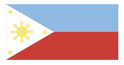 Ang nadilang Pilipino na sky blue ang blue.  Inaprubahan ni Pangulong Marcos mula 1985 hanggang 1986.  Mula sa http://malacanang.gov.ph/.
