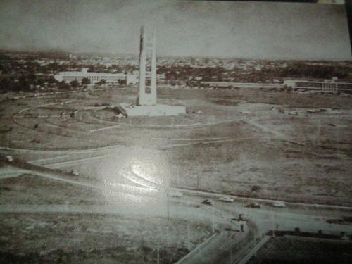 Ang elliptical circle at ang Quezon Memorial Monument.  Ang sanang magiging kapital ng Pilipinas.  Mula sa tanggapan ni Speaker Sonny Belmonte.