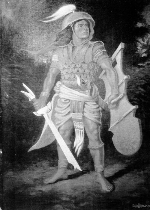 """Brave Warrior.""  Obra ni Dan H. Dizon, 1979.  Sa kagandahang loob ni Director Robby Tantingco ng Juan D. Nepomuceno Center for Kapampangan Studies ng Holy Angel University."