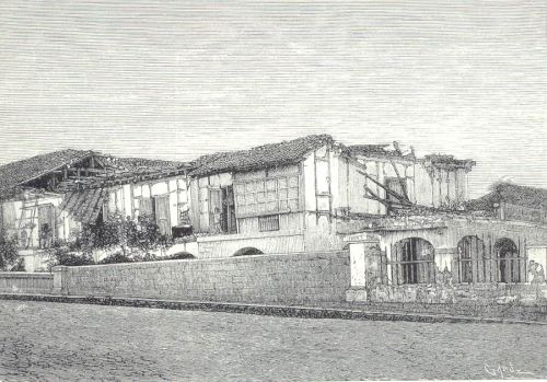 Guho ng General de Marina noong lindol ng 1880.  Mula kay Dr. Jaime B. Veneracion.