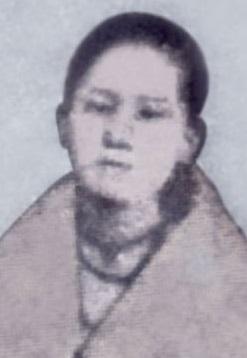 Josefa Rizal, kasapi ng Katipunan.  Mula sa Vibal Foundation.