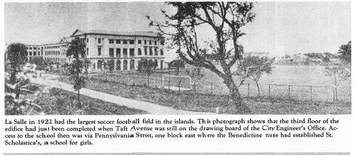 Mula sa La Salle 1911-1986.