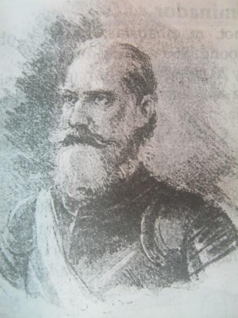 Martin de Goiti, ang namuno sa mga Espanyol na sumagupa sa mga Macabebe.  Mula sa Ayala Museum.
