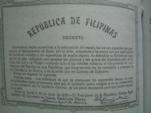 Ang Proklamasyon ni Heneral Aguinaldo ng June 30, 1899 mula sa Tarlac, Tarlac.