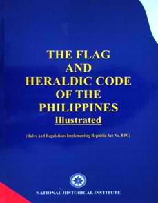 Ayon sa Flag and Heraldic Code of the Philippines, ang blue...