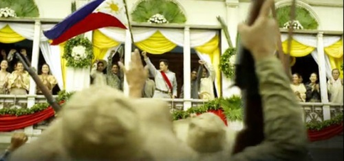 Pagsasadula ng proklamasyon ng Independencia mula sa bidyo ng pambansang awit ng GMA.