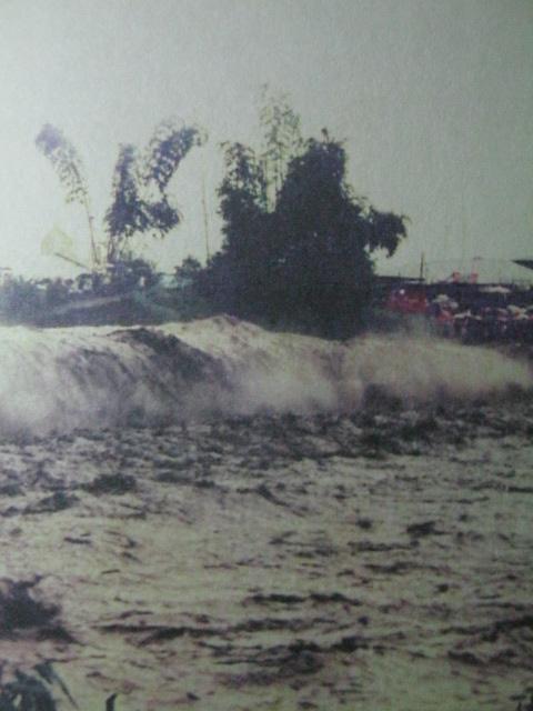 Ang pagragasa ng lahar sa Pampanga at Tarlac.  Kuha ni Rod Custodio.