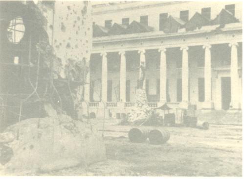 Ang mga guho ng UP Manila matapos ang digmaan.
