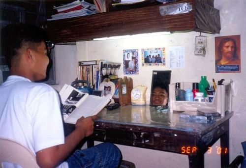 Xiao Chua at Kalayaan Residence Hall Room B-203, 2001-2001.