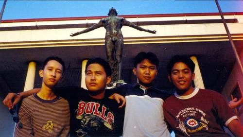 Xiao Chua and just three of his best friends in Kalayaan:  Jeremy Ryan Yap, Jeremiah Dalas, and Rey PJ Celiz.  From the Xiao Chua Library and Archives.