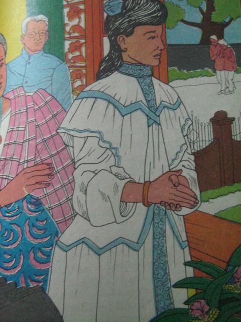 Paglalarawan ng pagtatapat ni Olivia sa mga magulang sa pagnanais na maging doktor.  Mula sa Adarna Publishing,  House, Inc.