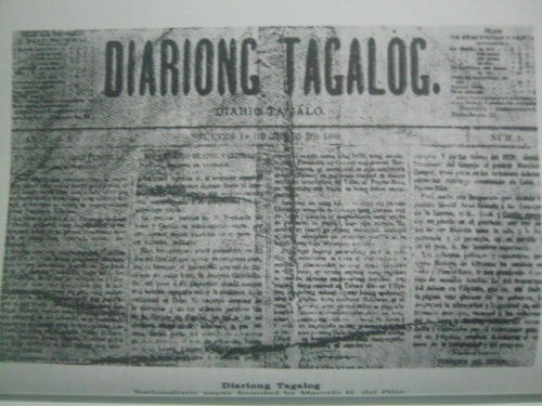 Diariong Tagalog.  Mula sa Revolt of the Masses ni Teodoro Agoncillo.