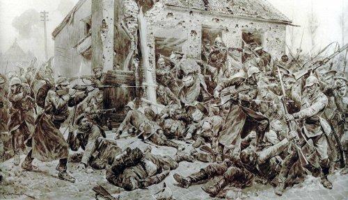 Paglalarawan ng isang yugto ng  Unang Digmaang Pandaigdig (1914-1918).