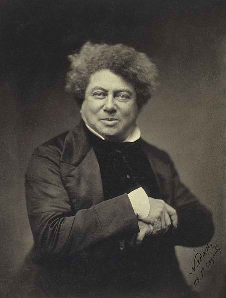 "Alexandre Dumas, may akda ng ""The Count of Monte Cristo"" at ""The Three Musketeers.""  Mula sa Wikipedia."