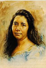 Dona Aurora Aragon Quezon.  Obra maestra ni Fabian de la Rosa.