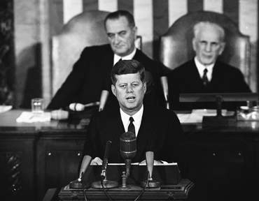 John F. Kennedy delivering his State of the Union Address. From advisorone.com