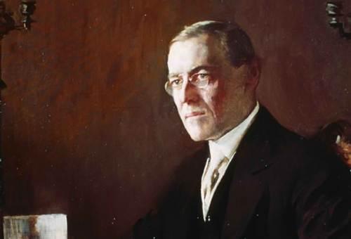 Pangulong Woodrow Wilson.  Mula sa history.com