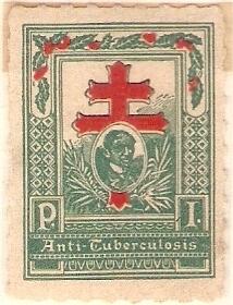 Mga nanunang TB stamps ng Philippine anti-Tuberculosis Society.  Mula sa philippinestamps.net.