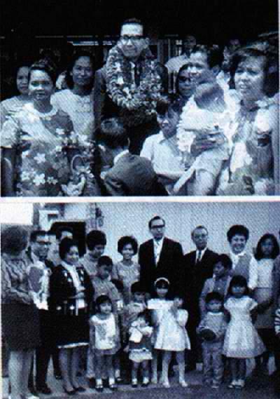 Ang Ka Erdy sa kasama ang mga kapatid pagbubukas ng unang lokal sa ibang bansa sa Honolulu, Hawaii.  Mula sa http://www.iglesianicristowebsite.com/.