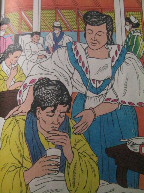 Ang anghel ng mga may TB.  Mula sa Adarna Publishing, House, Inc.