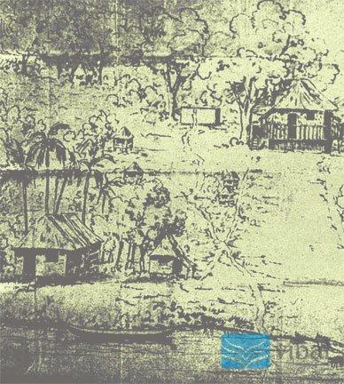 Guhit ni Rizal ng Talisay.  Mula sa Vibal Foundation, Inc.